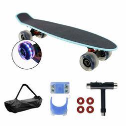 "Geelife 22"" Complete Mini Cruiser Skateboard-Beginners Youth"