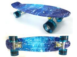 22 Inch Complete Mini Cruiser Skateboard Plastic Retro Desig