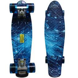 """Rimable 22"""" Retro Mini Cruiser Skateboard Penny Style Graphi"""