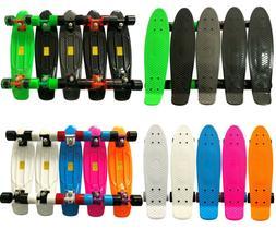 "22"" Skateboard Mini Cruiser Penny Style Board Plastic Deck C"