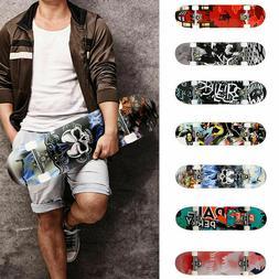 31 x 8 inch skateboard fun printed