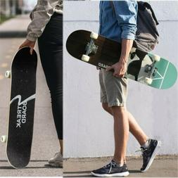 31''x 8'' PANDA Complete Skateboard Double Kick Deck Concave