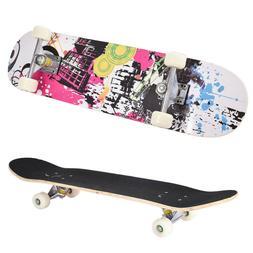 "31""x8"" Professional Skateboard Longboard Complete Trucks Map"