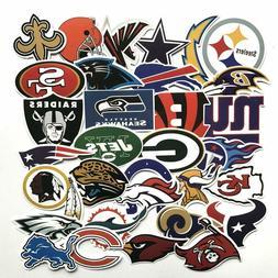 32 pcs Football NFL Stickers team logo for laptop computer c