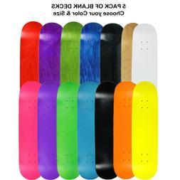 5 Pro Skateboard Decks Blank Choose Your Color + Size