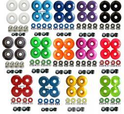 52mm Blank Pro Single Tone Skateboard Wheels w/ Bearings & S