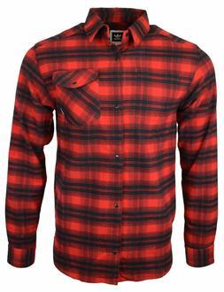 $70 Adidas Originals Men Flannel Shirt Skateboarding Stretch