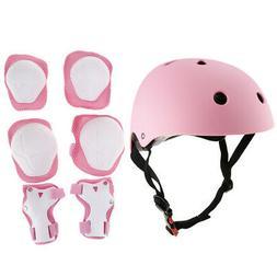 7pcs Kids Skateboard Helmet Wrist/Knee/Elbow Pad Protective
