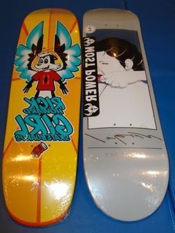 8.25 x 32 Girl pro shape mini cruiser yellow skateboard deck