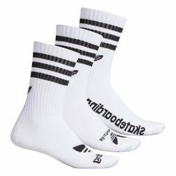 {AN5056-NS} Men's Adidas Skateboarding 3 Pair Crew Socks *NE