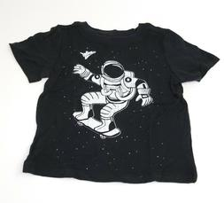 ASTRONAUT ON SKATE BOARD Funny Cute Cotton T-Shirt for Toddl