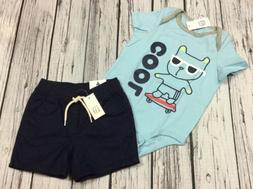 Baby Gap Boys 18-24 Months Cool Skateboard Shirt & Navy Blue