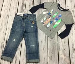 "Old Navy Boys 2 / 2T Outfit. Skateboard Shirt & ""POW!"" R"