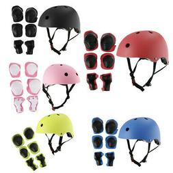 Boys Girls Skateboard Helmet Wrist/Knee/Elbow Pad Protective