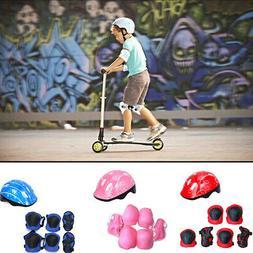 US Girl Skating Protective Helmet Gear Set Kid Elbow Knee Pa