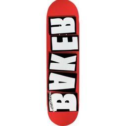BAKER BRAND LOGO SKATEBOARD DECK 8.25 RED/WHITE