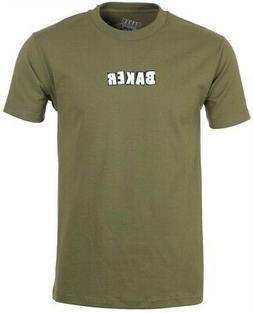 Baker Brand Logo T-Shirt Small Military Green