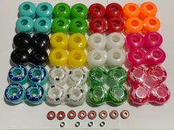 Brand New Blank 52mm Skateboard Wheels 95A & ABEC7 Bearings