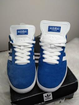 ADIDAS BUSENITZ ROYAL BLUE WHITE BB8433 Mens size 8 US NEW S