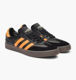 adidas Busenitz Vulc Samba Mens Black Orange Skateboarding S