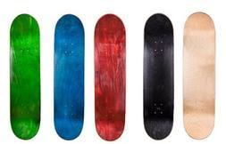 """Cal 7 8.0"""" Skateboard Deck Blank Maple, Black,Red,Green,Natu"""