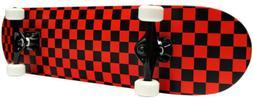 CHECKER SKATEBOARD New PRO COMPLETE RED/BLACK Checkers