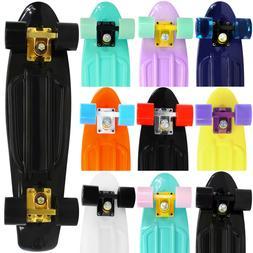 Complete 22 inch Skateboard Plastic Pastel Mini Retro Style
