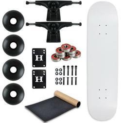 Moose Complete Skateboard DIPPED WHITE 8.0 Black/Black
