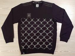 Adidas D Klein Crewneck Skateboard Black Pullover Sweater B4