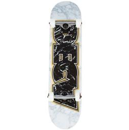 "Deca Skateboard Complete Marble White Gold 7.5"" Pre-Assemble"