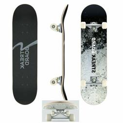 Ink Complete Skateboard Double Kick Deck Concave With White