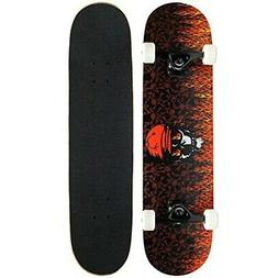 Krown Intro Skateboard, Red Flame