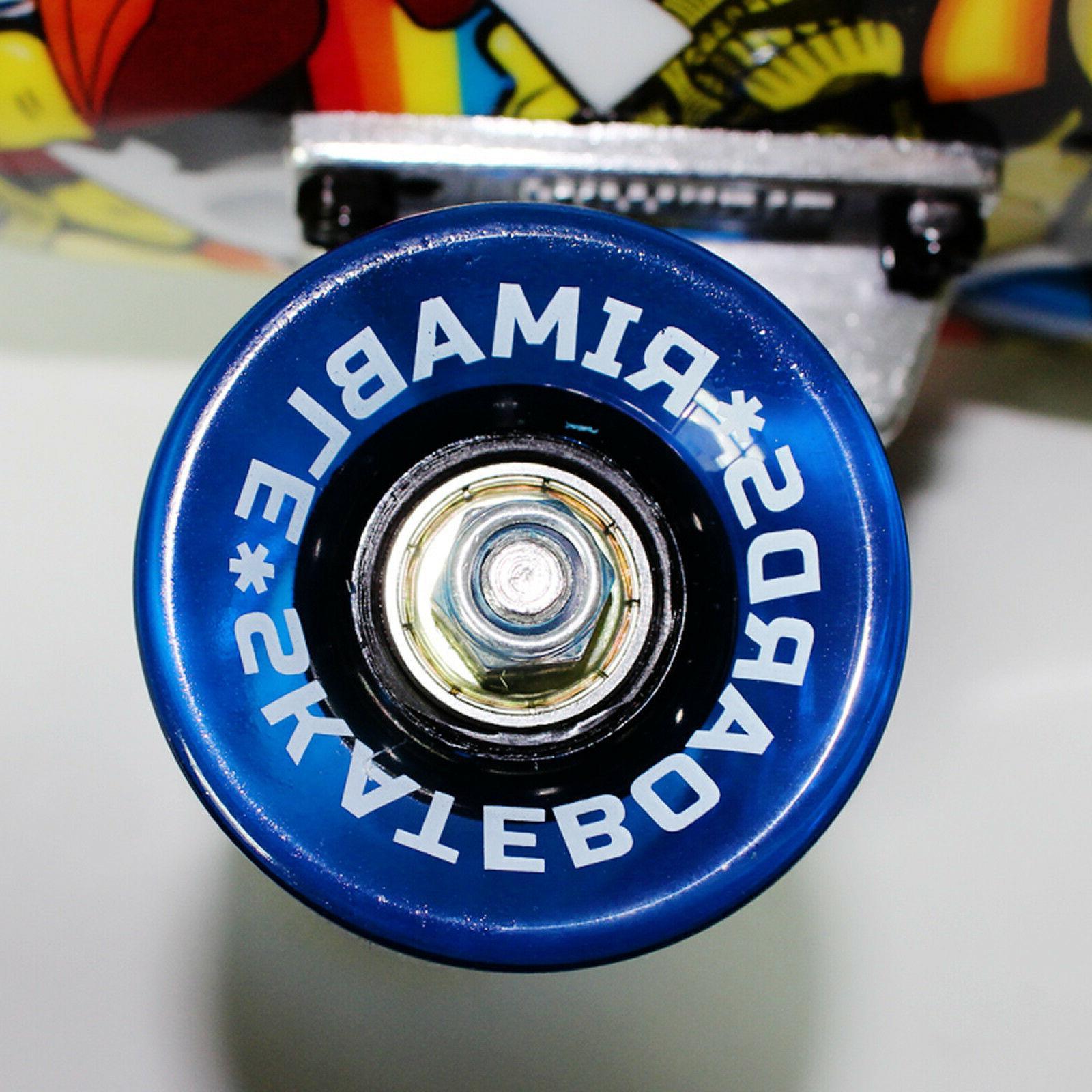 "Rimable 22"" Retro Cruiser Skateboard Penny Graphic"