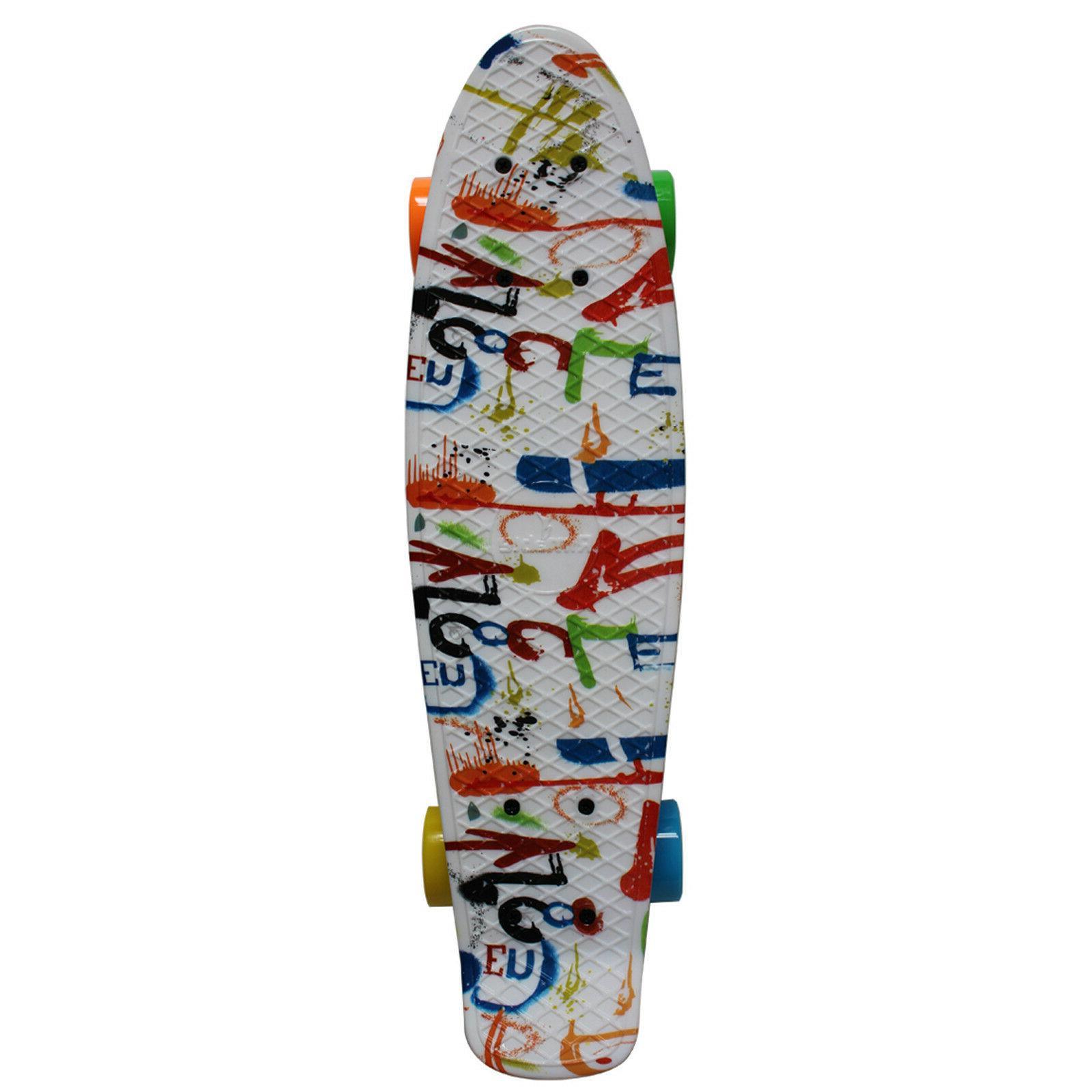 """Rimable 22"""" Retro Mini Cruiser Skateboard Graphic"""