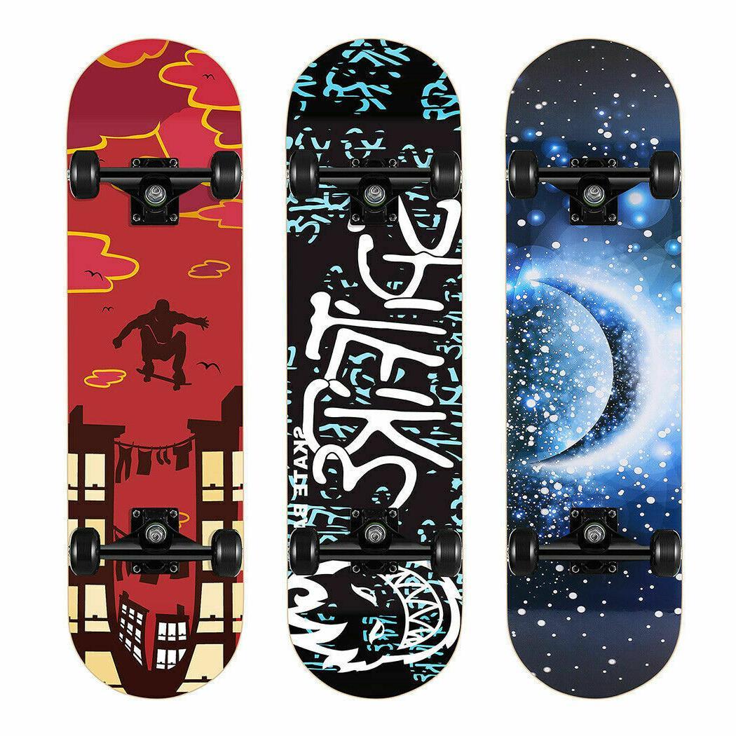 31 Skateboard Printed Skateboards 9 Maple Long 06