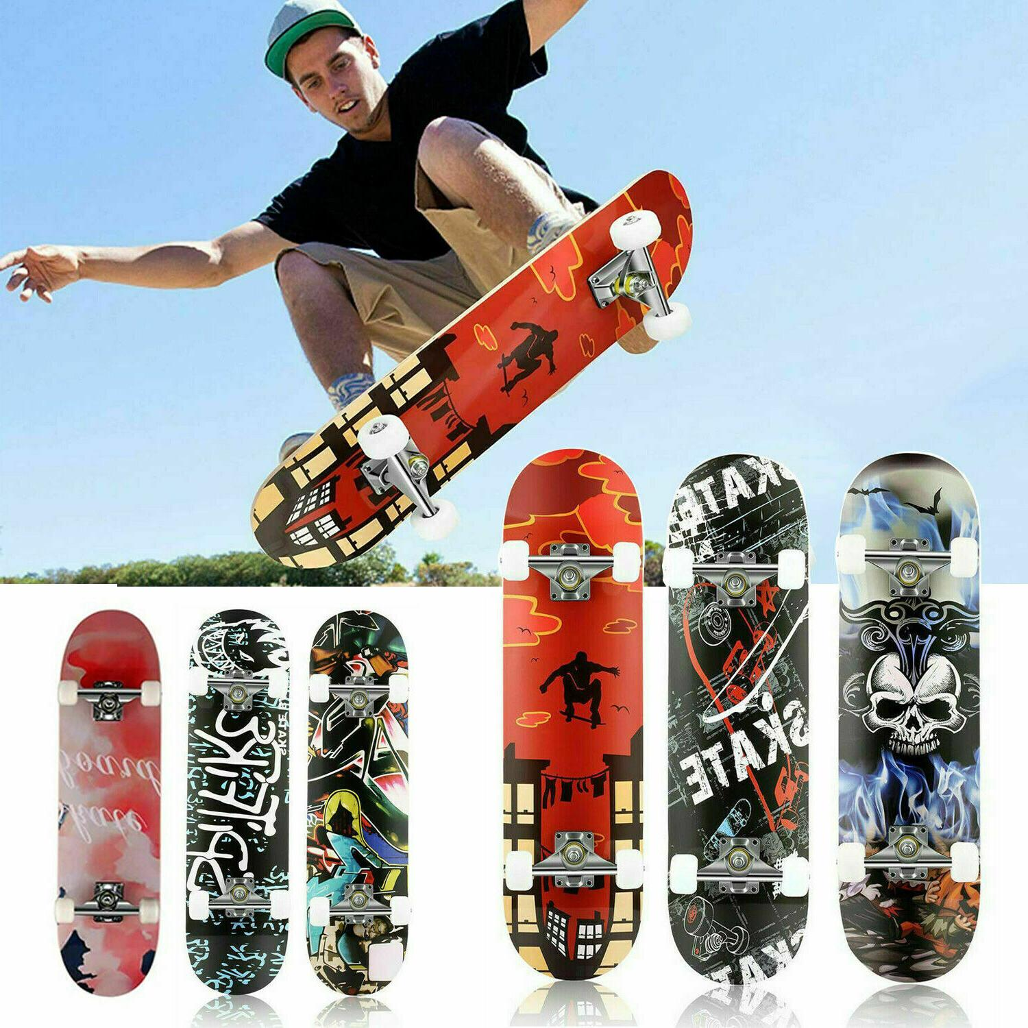 31 x Inch Skateboard Fun Printed Complete Skateboards Layer Long g