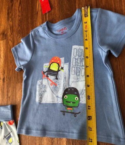 ZUTANO Baby Boy Skateboarding Monsters CUTE~18M-NWT