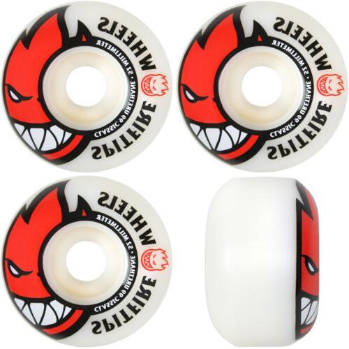 Spitfire Bighead Wheels Set White Red 52mm/99du