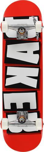 BAKER BRAND LOGO SKATEBOARD COMPLETE-7.75 RED/WHT/BLK
