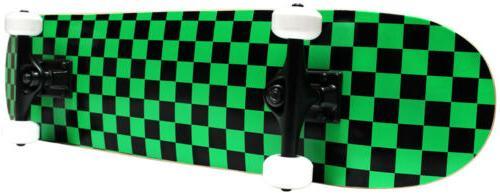 CHECKER SKATEBOARD New PRO COMPLETE Checkers ABEC 5 BLACK/GR