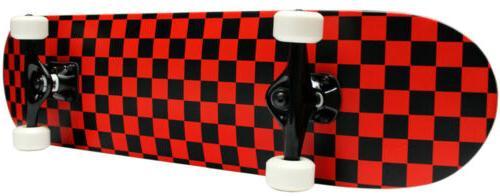 checker skateboard new pro complete red black