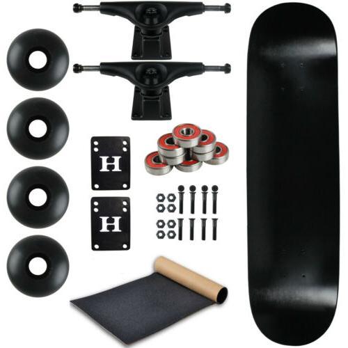 Moose Complete Skateboard DIPPED BLACK 7.5 Black/Black