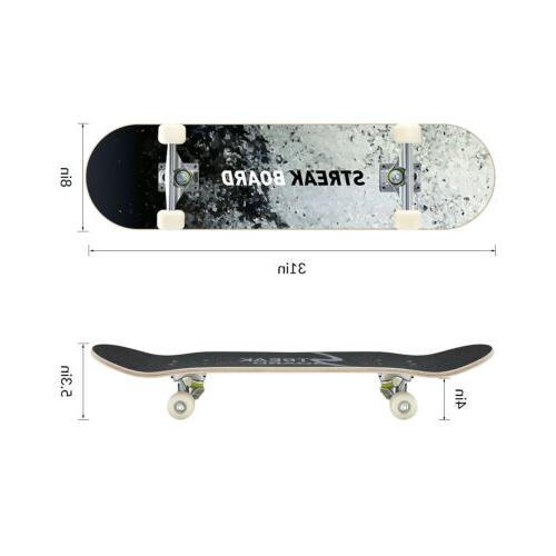 Complete Double Deck Concave With Wheels 31''x - INK