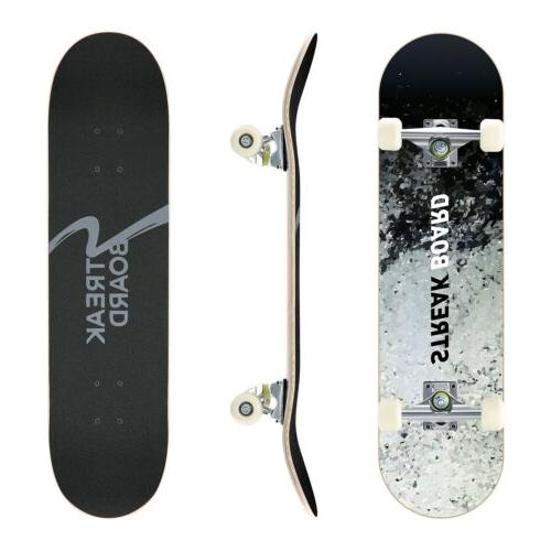 Complete Double Kick Deck With Wheels 31''x INK