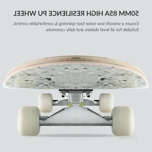 Complete Double Kick Deck Concave Wheels INK