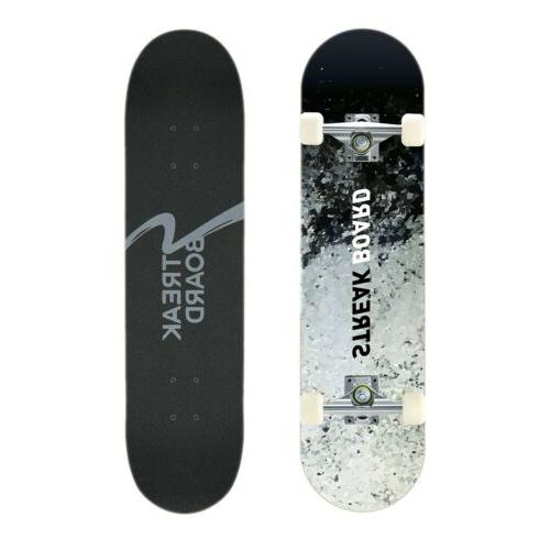 complete skateboard double kick deck concave