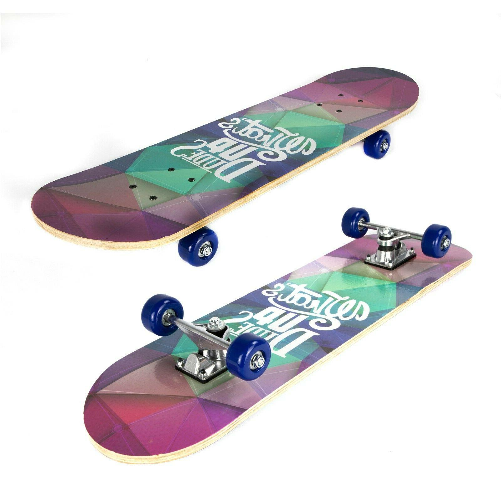 complete skateboards for beginners boys girls adults