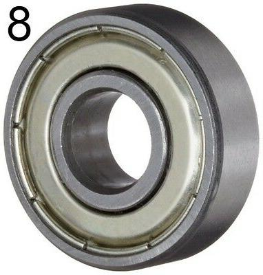 Eight Greased Ball Bearings