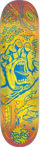SANTA CRUZ FLASH HAND SKATE DECK-8.25 vx w/MOB Grip