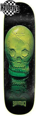 Creature Green Skull Everslick Skateboard Deck Sz 8.59 x 32.